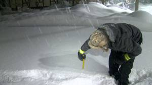 Residents of Teeswater, Ont. react to blast of winter storm