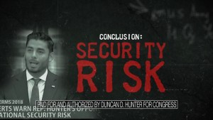 U.S. congressional candidate Duncan Hunter's attack ad links opponent to terrorism