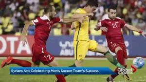 Syrian soccer team plays in FIFA World Cup qualifiers