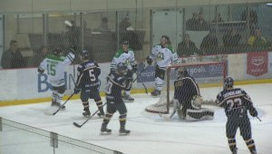 HIGHLIGHTS: MJHL Winnipeg Blues vs Portage Terriers – Dec. 13