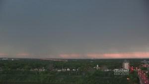 Saskatoon lightning storm