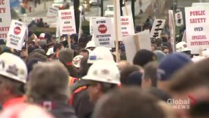Skilled Trade Workers Protest Bill 70 at Queen's Park