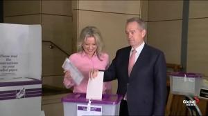 Australia's Labor Leader casts vote in election