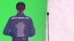 Millie Bobby Brown wears names of Florida school shooting victims at Kids Choice Awards (00:27)
