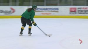 First year Emily Middagh playing leadership role for Cougars hockey team