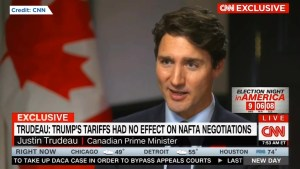 Trudeau tells CNN that Canada could ratify new trade deal even if U.S. tariffs stay put