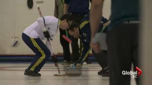 Brazilians learn how to curl