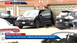 Brampton mother, child struck by SUV