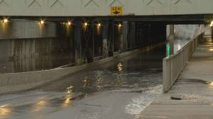 Parts of Regina experience flooding following heavy rainfall Tuesday evening