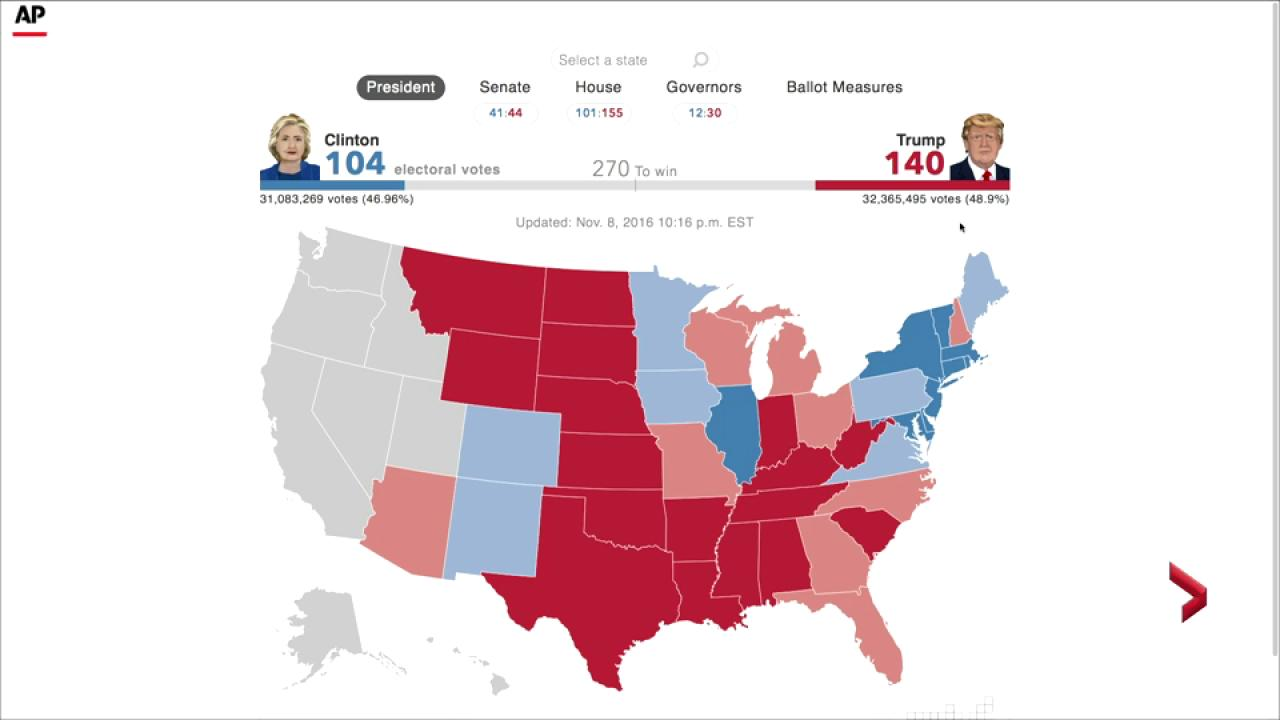 Map Of The Us With Electoral Votes - Us map with electoral votes 2016