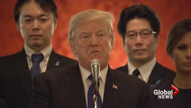 Ellie Cha North Korea >> Donald Trump urges North Korea to 'come to the table' and negotiate - National | Globalnews.ca