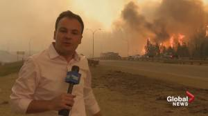 Global crew remembers live TV report covering the Fort McMurray wildfire (01:49)