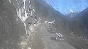 Highway camera images show aftermath of Trans-Canada avalanche