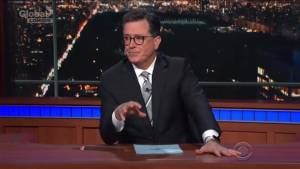 Stephen Colbert get honest about allegations levelled at 'his guy' Les Moonves