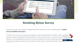 St. Albert considers imposing complete ban on public smoking