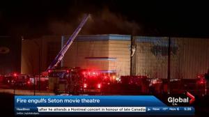 Fire causes damage to Cineplex Odeon Seton