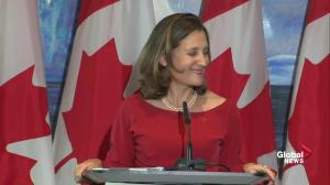 Freeland addresses aggressive vs. bad faith NAFTA bargaining by U.S.