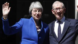 Theresa May thanks husband, inspires young women in final statement as British PM