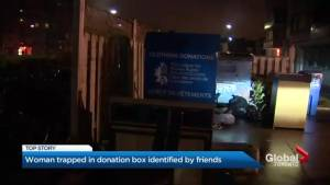Woman who became trapped in Toronto donation box identified