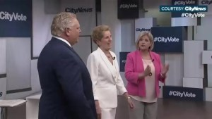 Ontario party leaders spar in first major debate before election