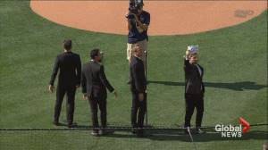The Tenors say 'lone wolf' changed lyrics to O Canada