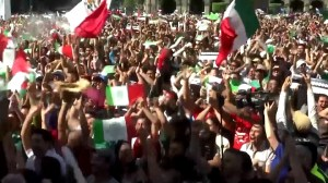 Mexican soccer fans celebrate World Cup win against Germany, set off earthquake detectors
