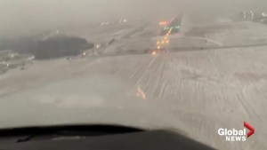 Passenger records pilot making incredible landing in near-zero visibility