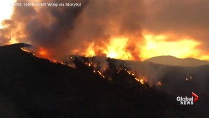 Time-lapse video captures Holy Fire at sunset