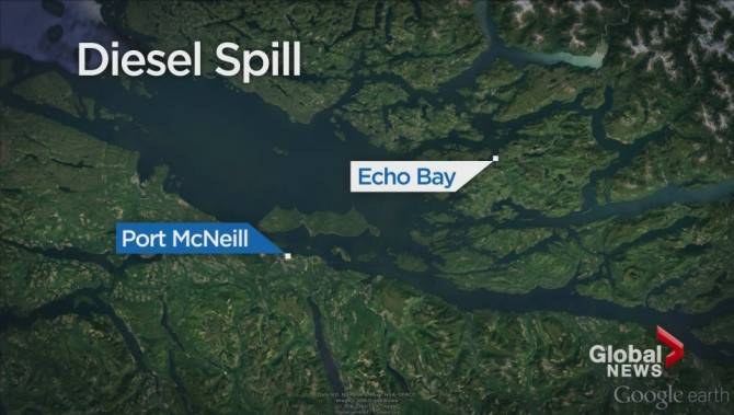 Diesel spill detected at fish farm off coast of northern for Fish and farm sf
