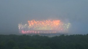 World Cup time-lapse video capture fireworks, wave of rain consume Moscow