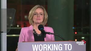 Premier Rachel Notley announces short-term 8.7 per cent oil production cut