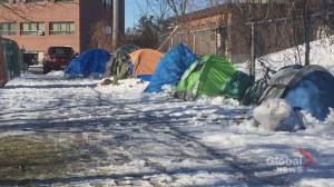 Residents of Fredericton tent city brace for snowstorm