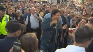 Justin Trudeau wades through crowd before historic Tragically Hip concert in Kingston