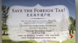 An unusual marketing move that pitches burial plots as investments