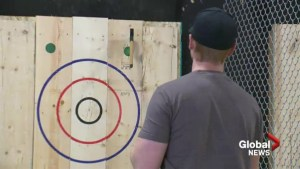 Axe throwers make their way to Lethbridge aiming for spot in national championship