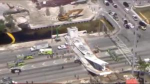 Multiple casualties after pedestrian bridge collapses in Miami