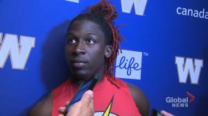 Lucky Whitehead talks about big kickoff return (00:54)