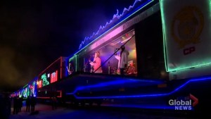 Terri Clark, Kelly Prescott and Sierra Noble perform on CP Holiday Train in Calgary
