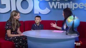 Geography whiz kid show off his skills on Global News Morning