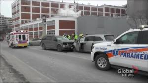 One sent to hospital in Hunter Street bridge collision in Peterborough