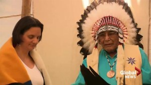 Alberta minister of Child Services receives traditional Blackfoot name from Piikani Nation