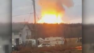 Enbridge natural gas pipeline explodes near Prince George (02:13)