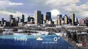 Edmonton early morning weather forecast: Tuesday, January 22, 2019