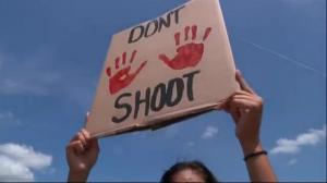 Raw video: Peaceful protests held in Ferguson, Missouri