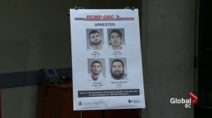 Surrey RCMP make six arrests in gang violence crackdown