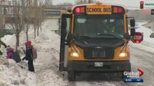 Transcona parents say un-plowed streets put school students in danger (01:45)
