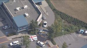 Aerial view of car involved in brazen South Surrey shooting