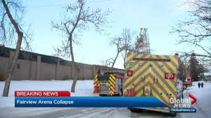 Roof collapses at Calgary arena