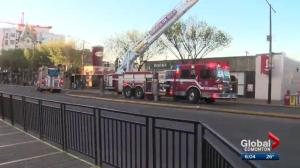 Morning fire brings bomb squad to Whyte Ave