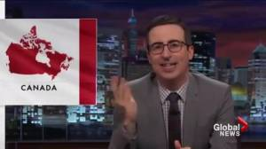 John Oliver takes jabs at Canada's Senate expense scandal